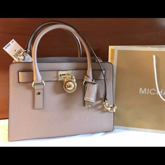 9daab6d2e4  298 Michael Kors Hamilton Handbag Bag MK Purse